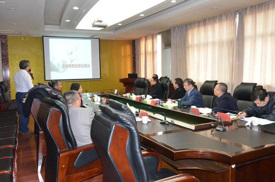 省卫生计生委刘中雨副主任到山西省地方病防治研究所调研