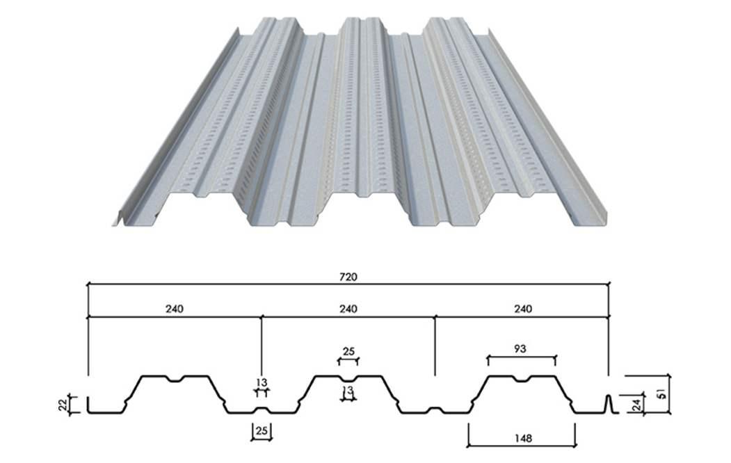 720开口型楼承板
